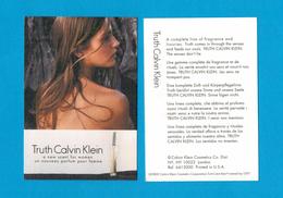 Cartes Parfumées Carte TRUTH  De CALVIN KLEIN RECTO VERSO - Modern (vanaf 1961)