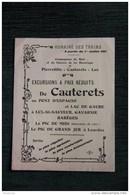 Horaire Des Trains à Partir Du 1er Juillet 1911,Cie Electrique Du Midi : PIERREFITTE, CAUTERETS, GAVARNIE, LUZ - Europe