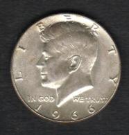 Etats-unis HALF DOLLARS 1/2 Kennedy 50 Cents 1966 , 2 Scannes - Federal Issues