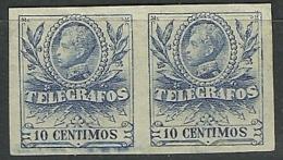 ESPAÑA 1905 Telegrafos ALFONSO XIII Edifil 40 S ** - Telegrafi