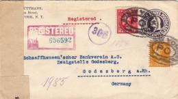 USA 1921 - 3 C Ganzsache + 2 + 10 C Auf Zenzur Reco Firmenbrief, 10 Verschiedene Stempel, Aufkleber D.Reichsgesetzblattl - Vereinigte Staaten