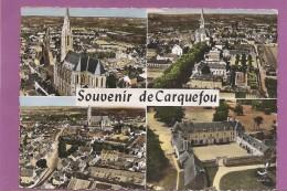 44    SOUVENIR DE CARQUEFOU  MULTIVUES  1965 TIMBREE ECRITE     BON ETAT   2 SCANS - Carquefou