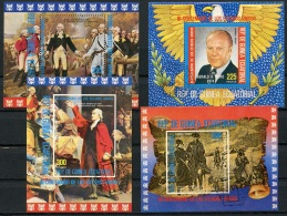 Equatorial Guinea, 1975, Bicentennial Of The USA, Cancelled Sheets, Michel Block 174-177 - Guinée Equatoriale