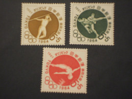 GIAPPONE - 1961 OLIMPIADI TOKYO 3 VALORI - NUOVI(++) - Unused Stamps