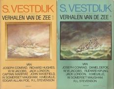VERHALEN VAN DE ZEE - SIMON VESTDIJK - UITGEVERIJ CONTACT 1976 VERHALENBUNDELS - Livres, BD, Revues