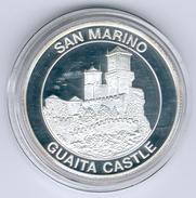 San Marino Medaille Guaita Castle In PP - Saint-Marin