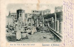 PK - CP - AK - Athene - D'Athénes - Tour Des Vents Et Agora Rho Maïque - 6 Avril 1900 - Grecia