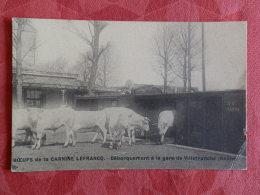 Dep 69 , Cpa Boeufs De La Carnine Lefrancq , Débarquement à La Gare De VILLEFRANCHE   (10.175) - Villefranche-sur-Saone