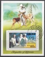 LIBERIA  Block 77 A, Gestempelt, 100. Geburtstag Von Albert Schweitzer 1975 - Liberia