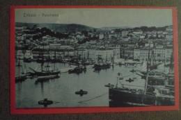 TRIESTE   1921   - PANORAMA   IL PORTO -- VIAGGIATA - -BELLISSIMA - Trieste