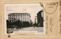 SPEZIA - PIAZZA SAINT-BON  Magnifica Cartolina Viaggiata 1904 - La Spezia