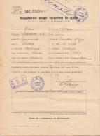 Dokument 1947 - C.S.A. MILANO, Doppelseitiges A4 Format, Gefaltet - Historische Dokumente