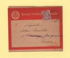 Paris 22 - Periodiques - 26-6-1910 - Bande Bureau Technique Hygiene - Type Blanc - 1877-1920: Période Semi Moderne