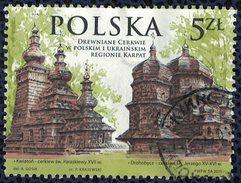 Pologne 2015 Oblitéré Used églises En Bois Région Des Carpates Polonaises Et Ukrainienne - Gebraucht