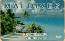 Maldives - GPT, Beach, 3MLDA, 2500ex, 1/2000, Used - Maldives