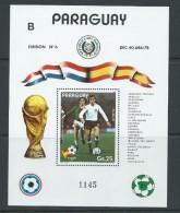 Paraguay 1982 Soccer World Cup Spain Miniature Sheet MNH - Paraguay