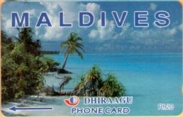 Maldives - GPT, Beach, 89MLDA, 2/00, Used - Maldives