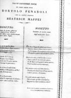 NOZZE DEL NOBILE CONTE BORTOLO FENAROLI - Annunci Di Nozze
