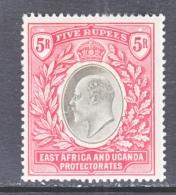 EAST AFRICA & UGANDA  PROTECTORATES  29   Fault   *  Wmk 3 Multi  CA - Kenya, Uganda & Tanganyika