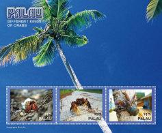 Palau-2016-fauna,fish And Marine Life-different Kinds Of Crabs Sheetlet - Marine Life