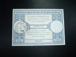 COUPON REPONSE INTERNATIONAL 40 FRANCS MAROC OBL.30-6-1958 CASABLANCA-MAARIF - Marocco (1956-...)