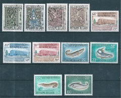 Timbre Du Laos De 1967  N°149 A 159   Neufs  Tres Petite Trace De Charnière - Laos