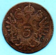 R5/ AUTRICHE / AUSTRIA 3 KREUTZER 1800 S - Oostenrijk