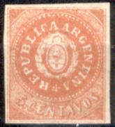 Argentina-00001a - 1862 - Yvert & Tellier N. 5g (sg) NG - Privo Di Difetti Occulti. - Nuovi