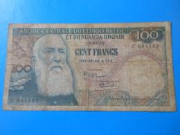 Congo Belge Belgian Congo 100 Francs 1-3-1955 F TB P33a - [ 5] Belgian Congo