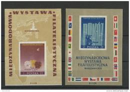 POLOGNE - 1955 - BLOC YVERT N° 16/17 ** - COTE = 45 EUROS