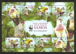 (WWF-473) W.W.F Samoa Many-coloured Fruit Dove MNH Sheetlet 2011 - Unused Stamps