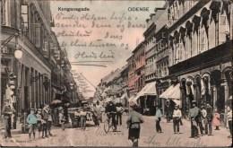 ! Alte Ansichtskarte 1907, Odense, Kongensgade, Denmark Dänemark - Dänemark
