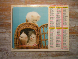 CALENDRIER  1985  ALMANACH DES  P T T   CHAT CHATTONS ALMANACHS JEAN LAVIGNE - Calendars