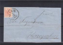 Autriche - Lettre De 1858 - Oblitération Wien - Expédié Vers Herzogenburg - Cachet De St Polten - Covers & Documents