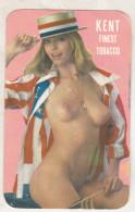 Romania - Old Small Calendar - 1990-1991 Sexy Woman - Kent Tobacco - Calendari