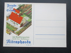 Werbepostkarte Deutsches Reich Freude Und Erfolg Im Siedlergarten Durch Den Volldünger Nitrophosta. Landwirtschaft - Werbepostkarten