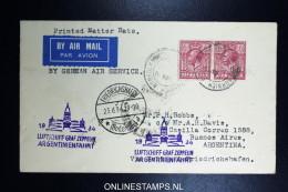 Graf Zeppelin 3. Sudamerikafahrt  1934 Sieger 254   Norwich To Buenos Aires  Argentinienfahrt - 1902-1951 (Könige)