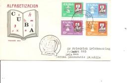 Cuba -Alphabétisation ( FDC De 1961 à Voir) - FDC