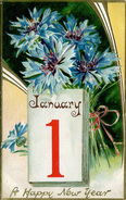 A HAPPY NEW YEAR - JANUARY 1 - Gr50 - New Year
