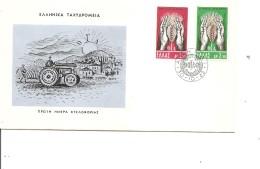 Contre La Faim ( FDC De Grèce De 1962 à Voir) - Tegen De Honger