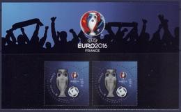 Paire Euro 2016 3D Du Bloc - Haut De Feuillet (2016) Neuf** - France