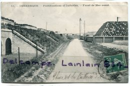 - 55 - DUNKERQUE -  Nord - Fortifications Et Batterie, Front De Mer Ouest, Phare, , écrite 1907, BE, Scans.. - Dunkerque