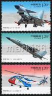 China - 2011 - Chinese Aircrafts - Mint Stamp Set - Nuovi