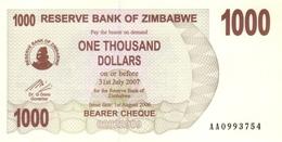 ZIMBABWE 1000 DOLLARS 2006 P-44 UNC  [ZW135a] - Zimbabwe