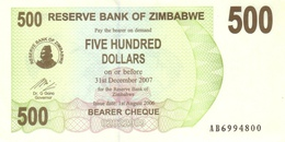 ZIMBABWE 500 DOLLARS 2006 P-43 UNC [ZW134a] - Simbabwe