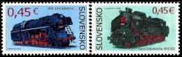 Slovakia - 2015 - Technical Monuments - Steam Trains - Mint Stamp Set - Nuovi