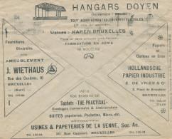 891/24 - Belgium TOPIC Industrial Hangars - Paper/Carton  - Enveloppe Chèques Postaux 1927 - Otros