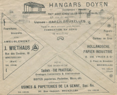 891/24 - Belgium TOPIC Industrial Hangars - Paper/Carton  - Enveloppe Chèques Postaux 1927 - Timbres