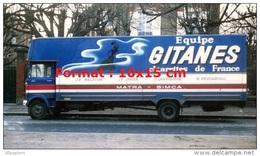 Reproduction Photographie D´un Camion De L'écurie Matra Simca Equipe Gitane Cigarettes De France - Repro's
