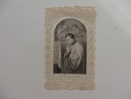 Image Pieuse Cadre Dentelle Canivet, CA 1880. - Religion &  Esoterik